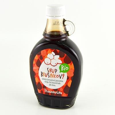 Country Life Bio sirup brusinkový 250 ml