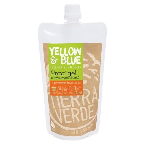 Yellow and Blue Prací gel z ořechů pomeranč 250 ml