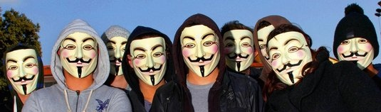 Anonymous - maska Guy Fawkes
